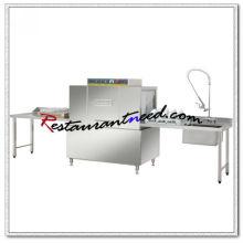 Máquina de lavar louça transportadora K714 com pré-limpeza e mesa de saída