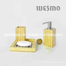 Conjunto de banho de bambu de dois tons (wbb0301c)