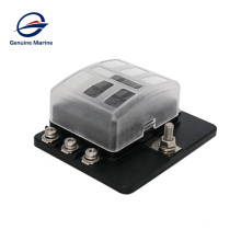New product waterproof 6 Way 12 Way Circuit with LED Indicator Cover for Car Marine Car Fuse Blocks Holder 32V DC Fuse Box