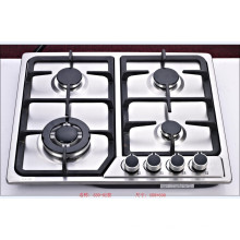 Sabaf Four Burner Square Stainless Steel Gas Hob