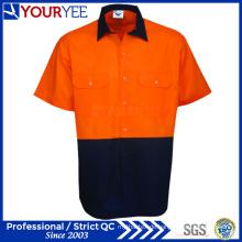 Sicherheit Hi Vis Work Shirts Kurzarm Workwear Shirts (YWS117)