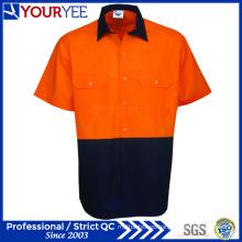 Seguridad Hi Vis Camisas de trabajo camisas de manga corta de trabajo (YWS117)