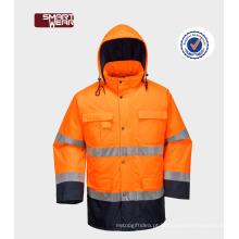 roupas para fabricantes de segurança rodoviária uniforme 300D oxford jaqueta de segurança reflexiva