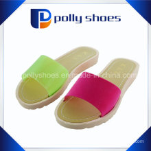 Double Color Pcu Injection Women Cheap Slipper
