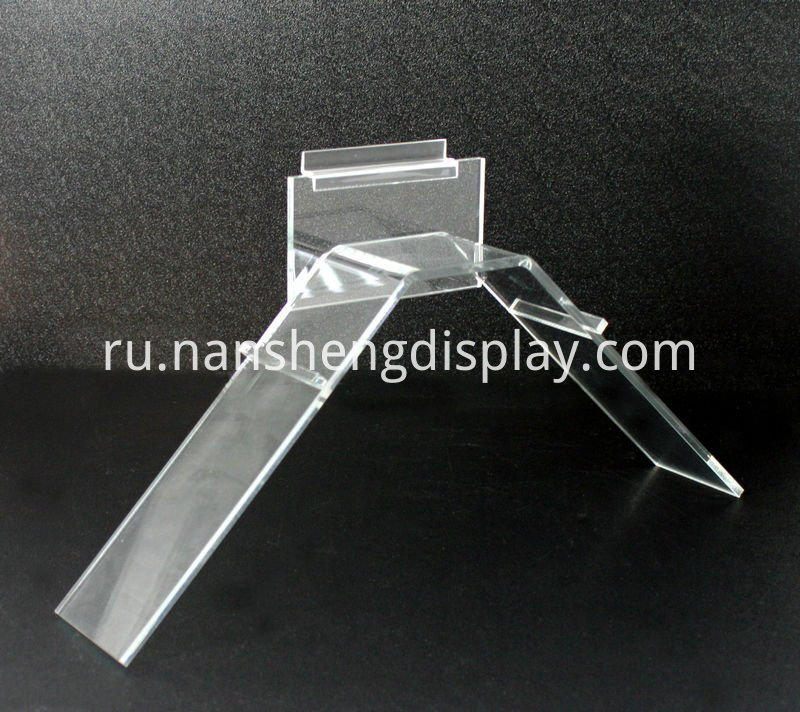 V SHAPE ACRYLIC SHOE RACK