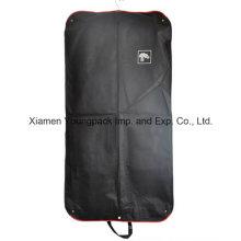 Custom Printed Black Non-Woven Button Foldable Garment Cover Bag