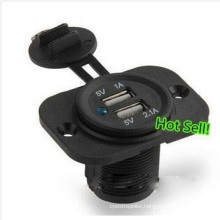 Dual USB Waterproof 12V Car Cigarette Lighter Power Socket