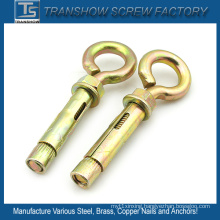 M10X70 Yellow Galvanized Eye Bolt Sleeve Anchors