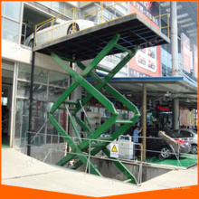 inground scissor car lift elevator