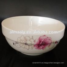 Tazón de fideos de porcelana, tazón chino de porcelana, tazón de sopa de cerámica