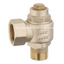 Válvula de bola personalizada de la cerradura de cobre amarillo de la calidad (AV4009A)