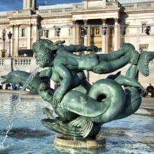 escultura de fuente de delfín