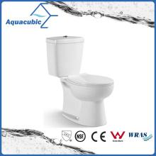 Washdown Two Piece Dual Flush Round Front Bowl Toilet (ACT7035)