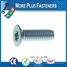 Made in Taiwan Pozi Countersunk Taptite Thread Rolling Screws DIN 7500 M A2 Stainless Steel