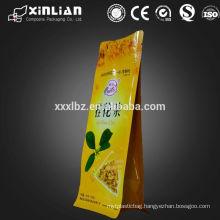Flat bottom eight side sealed packaging bag for tea