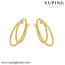 92777 Xuping 24K gold Plated wholesale african jewelry huggie earrings
