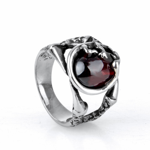 hollow ruby ring