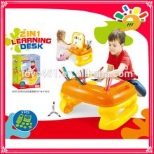 2 in 1 Kinder Lern-Schreibtisch und Staffelei / Kinder Malerei Staffelei