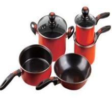 Colorful coating outside cookware sets