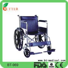 Chaise roulante manuelle résistant à l'ecomomic en acier