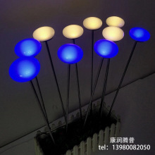 Outdoor LED color changing lamp to wipe lollipop