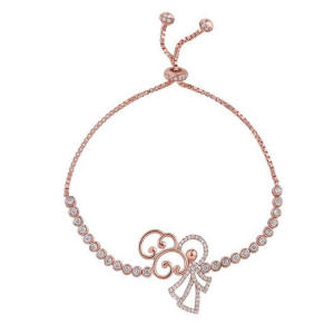 O Bracelete Prancing Angel 18K Rose Gold