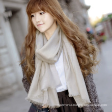 100% Fashion Merino Wool Scarf Solid Pattern (12-BR020102-2.16)