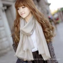 100% padrão de cachecol de lã Merino moda (12-br020102-2,16)