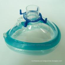 Máscara Respiratoria de Anestesia Médica Desechable de PVC