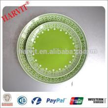 Importador al por mayor de productos chinos en India Delhi / Color Glazed 10.5 '' Plato de cena / Placas de cerámica al por mayor