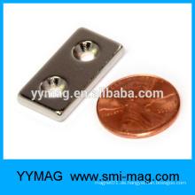Dünner rechteckiger NdFeB Magnet mit Löchern