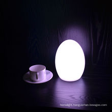 LED egg table lamp