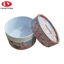 Pinted Kosmetikpulver runde Box