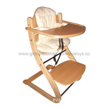 2013 new and popular wooden baby high chair with best price, passed EN 71 testNew