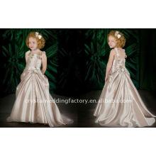 Precioso vestido de chica de flores appliqued CWFaf1757