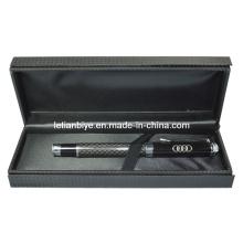 Regalo de empresa superior, pluma metálica de fibra de carbono con caja (LT-Y129)