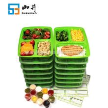 2018 año Amazon Best seller microondas caja fuerte seguro congelador caja de plástico de plástico bento caja de almuerzo para niños y Resturant
