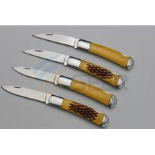 """6.5 """"cuchillo de bolsillo de la manija del hueso del buey (SE-470)"""
