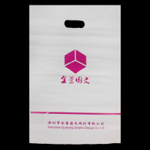 PE Die Cut Patch Handle Shopping Bag