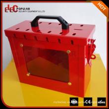 Elecpopular Pequeño tamaño claro Visible Ventana de acero al carbono Caja de bloqueo de seguridad de materiales