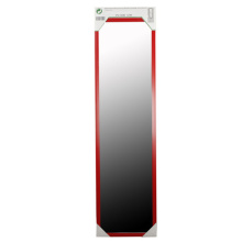 Red Low Cost Over Door Mirror Hardware Included