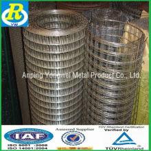 China fábrica eletro-galvanizado grade de arame quadrada 18 / malha de concreto galvanizado / cerca de ferro forjado