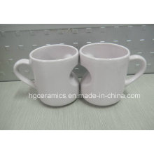 Heart Shape Mug, Heart Mug