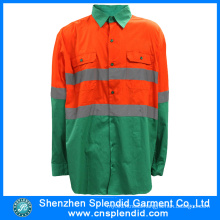 China Safety Wear 3m Reflective Dark Green High Visibility T-Shirt