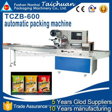 TCZB600 3 Servos Motor automatische Verpackungsmaschine Preis für verschiedene Länge Produkt Verpackung