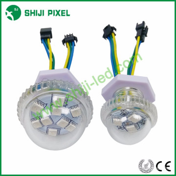 35mm dome rgb color change led cabochon light string ucs1903