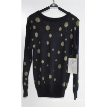 Mulheres com mangas compridas Pullover Knitted Sweater