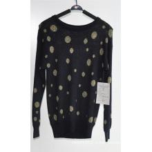 Женский узор с длинным рукавом Пуловер трикотажные свитера