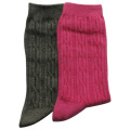 Grey and Pink Mid-calf Socks