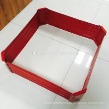 jardinera de metal / de acero galvanizado cama de jardín / de metal / de estaño / de caja / cuadrada / de flor